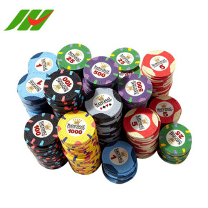 Wholesale ascona custom logo blank monte carlo clay Poker Chips Ceramic Casino set