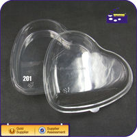 heart shape plastic fruit packing tray