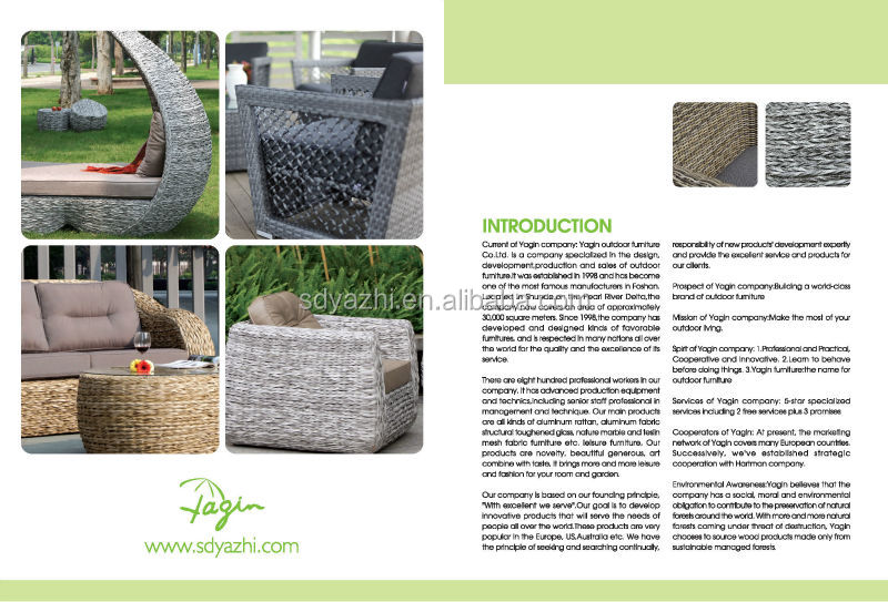 Outdoor Furniture Victory Garden In Nature Brown Flat Wicker With Teak Wood  Armrest Made In China