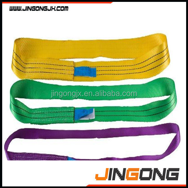 Low price webbing sling//Reliable 3t 5m Polyester boat lift sling