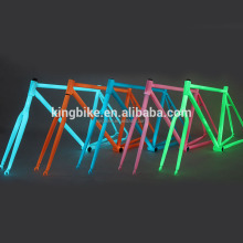 luminous paint bicycle frame and fork