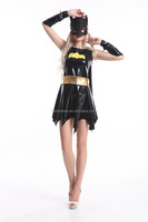 walson instyles Sexy Bat Woman Batgirl Adult Womens Costume black Superhero Party Fancy Dress Up