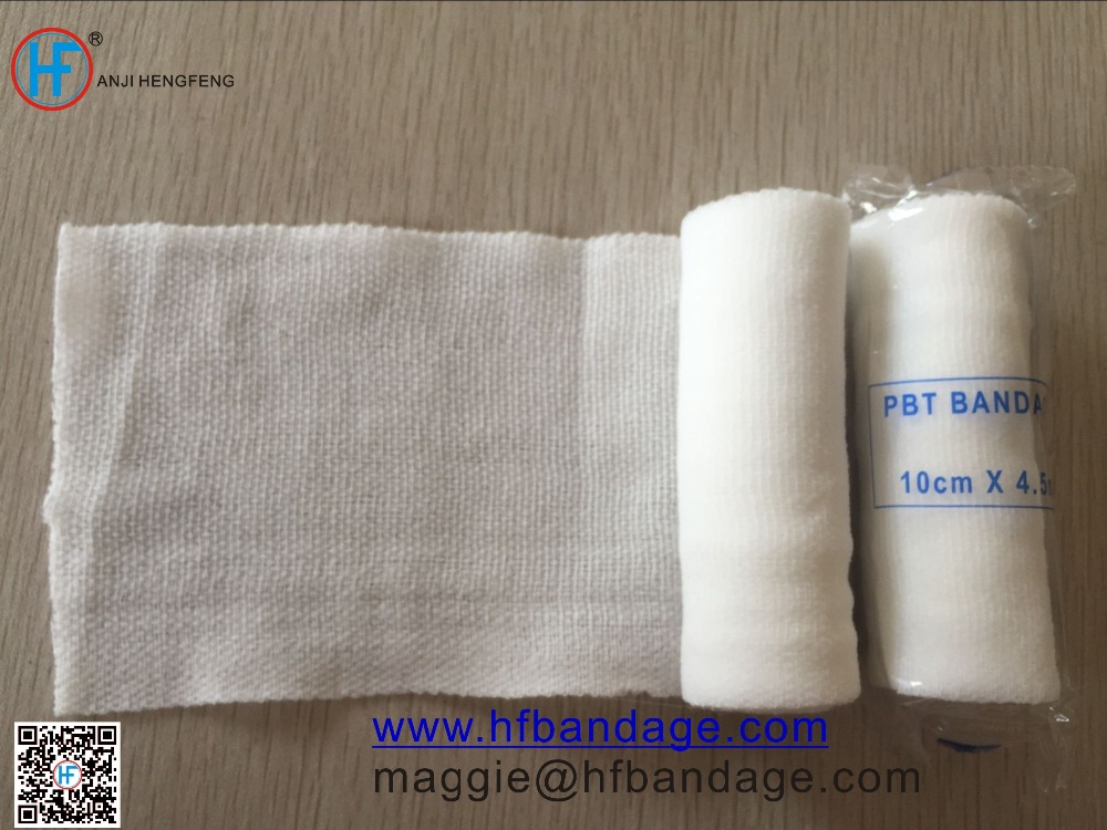 Medical PBT elastic bandages with clip of high quality made in china with CE certification