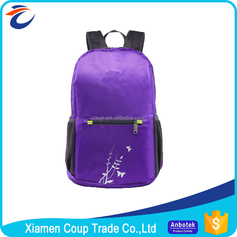 Lowest Price 600D Polyester High Class School Teen Bags For College Students