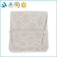 China supplier custom velvet jewellery pouch bags with logo printing