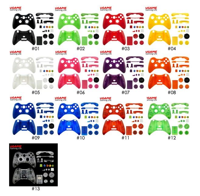 Wholesale Matte White Shell Case for Xbox360 Controller with Compete Button Kit