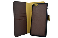 2015 new design leather case detachable back case for Iphone 6 Christmas Hot Sell