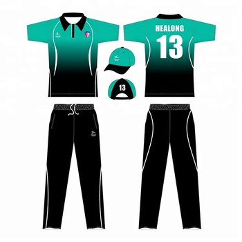 China Fornecedor de Healong Custom Design Uniforme Cricket Cricket Jersey Atacado