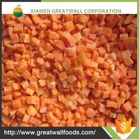 Chinese IQF frozen carrot dices