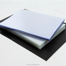 Opaque white A4 PVC hard plastic book cover for stationary