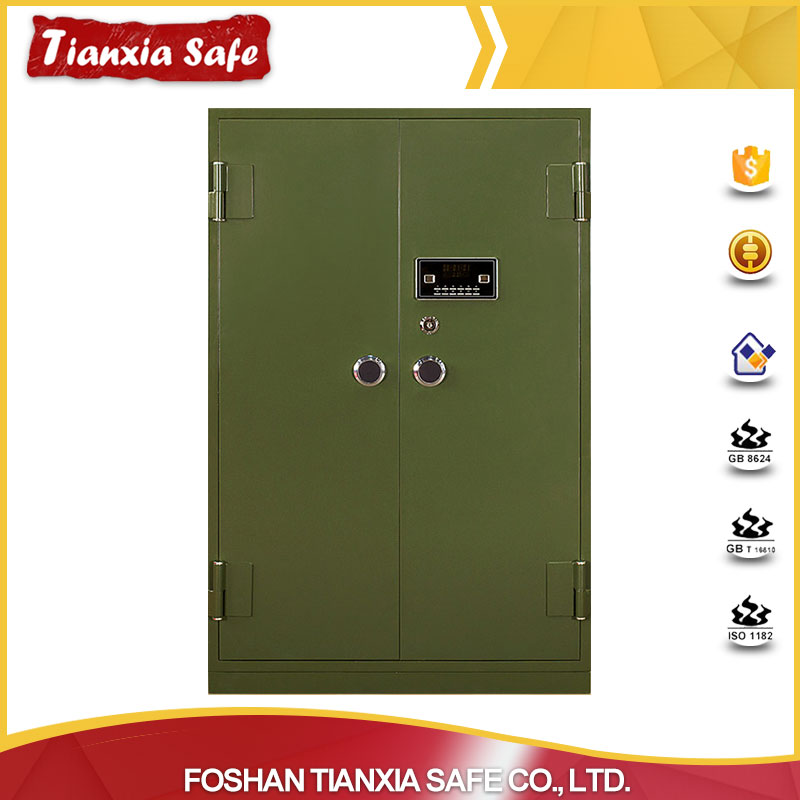 Good-selling electronic digital lock double key long gun safe for sale