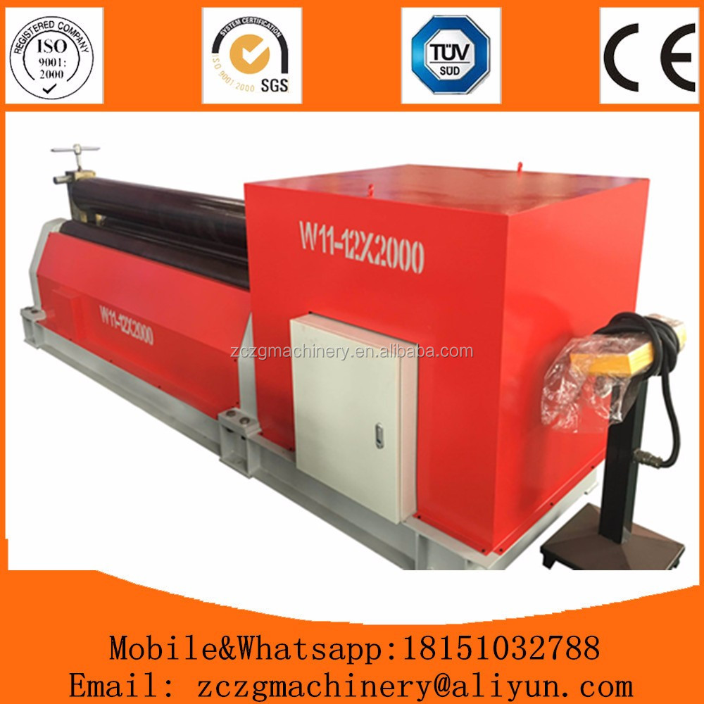 <strong>W11</strong> mechanical aluminum plate rolls,3 rollers sheet roling machine for sale