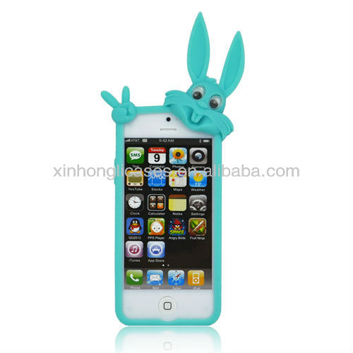 Best selling Top quality rabbit tpu cartoon cases for iphone 5