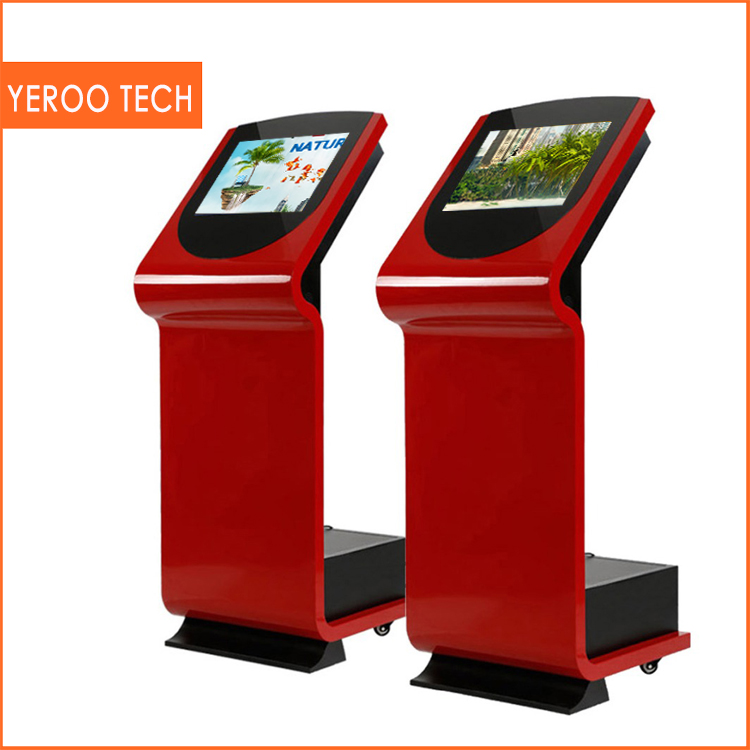 All In One Desktop media player for advertising Touch Screen Vertical TFT Interactive Multi Touch Ad Table Lcd Kiosk