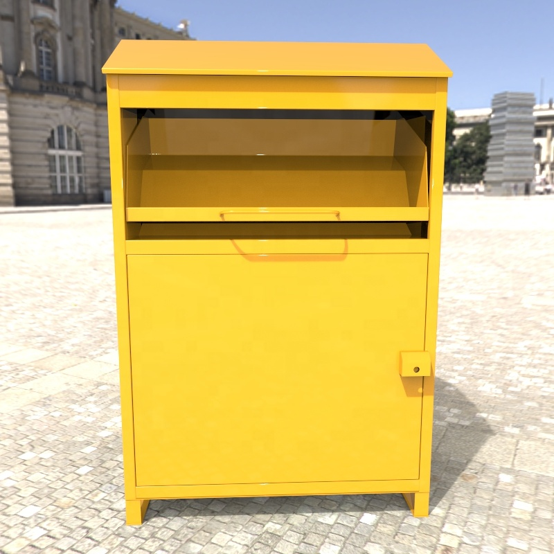 assemble type knock down save shipping cost used clothes recycle bin clothes collection bin clothes donation box