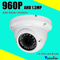 Sony analog ahd metal camera built-in ir cut module 1.3mp 960p security dome cctv valdalproof camera