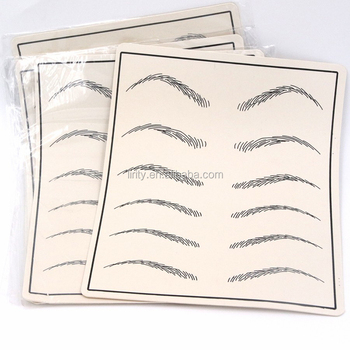 Tattoo Accesories Eyebrow Permanent Makeup Tattoo Practice Skins For Tattoo Beginner Training School
