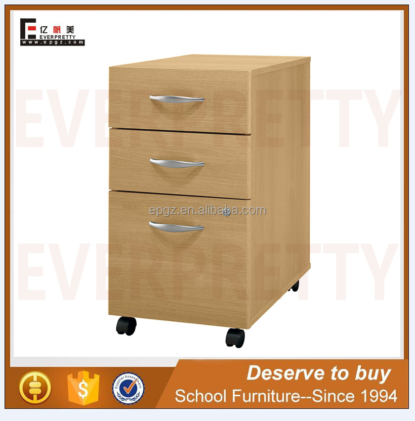 MDF Wood Closet Cabinet with Drawers, New Design Wood Storage Cabinet with Wheels