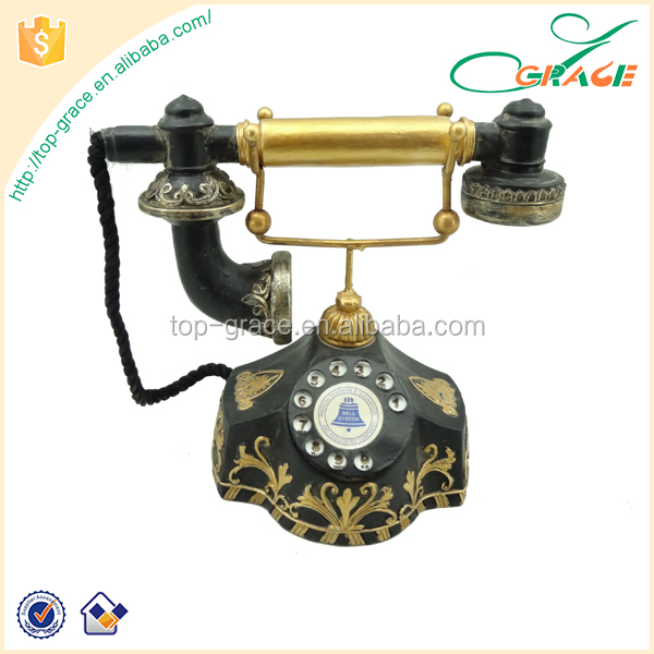 Funny Resin Phone Collection Decor Vintage Home Antique Telephone Decoration
