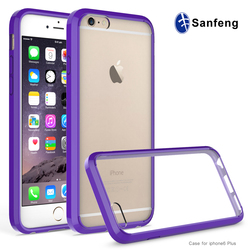 Free sample phone case for iphone 6 plus acrylic case,clear phone cover for iphone 6s / 6s plus