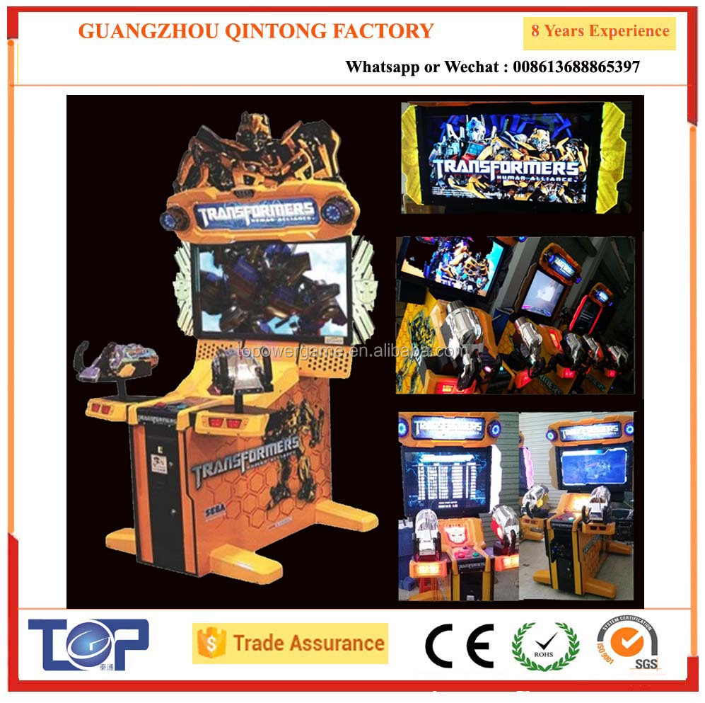 42 inch Shooting Video game of Transformers 2 player gun shooting game