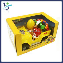 M&M Chocolate candy machine candy car animation Cartoon Figure CANDY TOY Chocolate Sweets