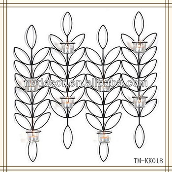 Leaf Design Wrought Iron Wall Sconces Buy Wall Sconce