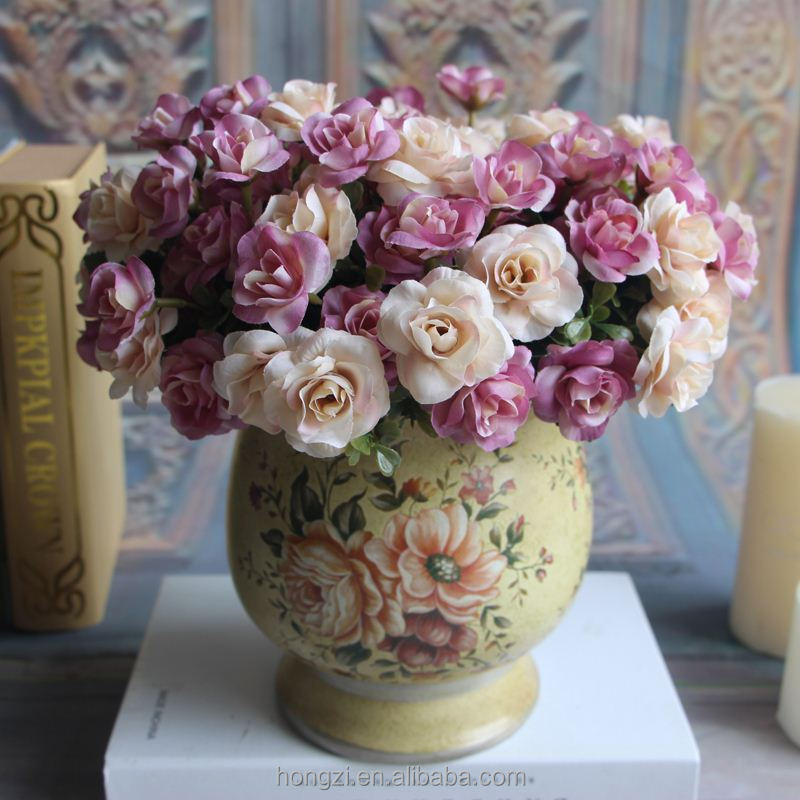 Austin 15 heads Autumn Fake Silk <strong>Flowers</strong> Artificial Rose Wedding Party Home Floral <strong>Flower</strong> Arrangement Peony Wedding Decoration