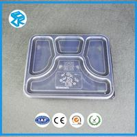 Explosion models cheap compartment tiffin tray PP plastic fast food packaging japanese bento lunch box