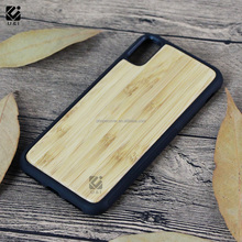 Blank Bamboo 4 wood material Rosewood handmade TPU mobile phone shell for iphone 10 ,for iphone X