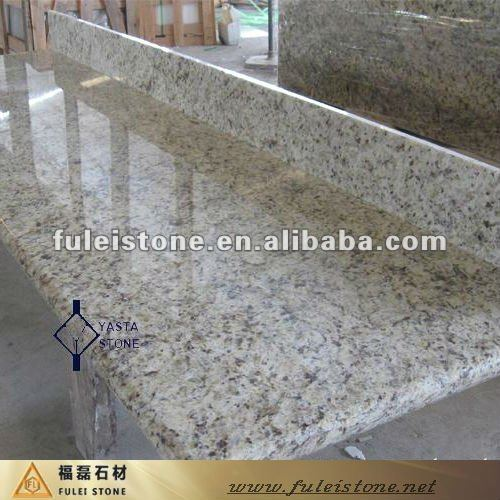 golden yellow speckled granite countertops