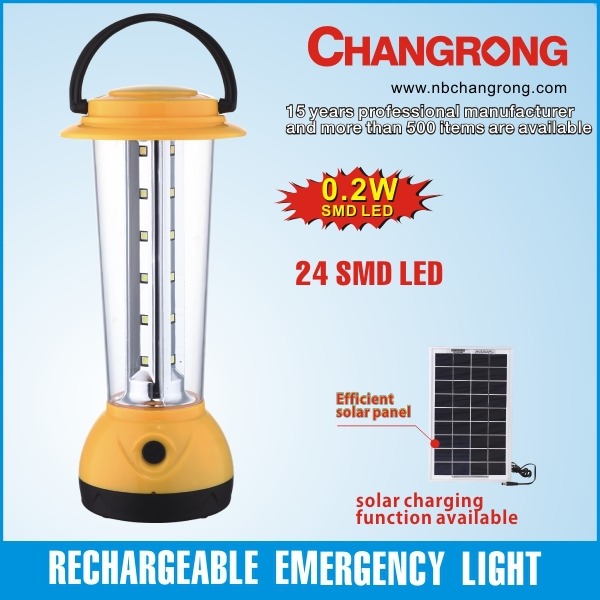 solar camping dynamo light smd rechargeable emergency lamp