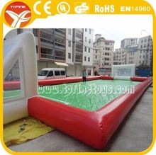 Inflatable soap soccer pitch, Giant inflatable soap football field with water pool