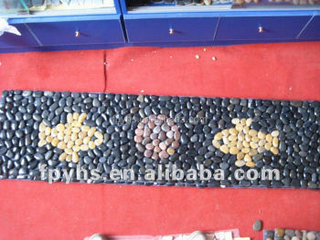 Natural Oblong Mixed Pebble Mat