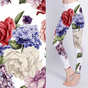 Tear-Resistant 90 polyester 10 spandex fabric digital printed stretch fabric for yoga pant