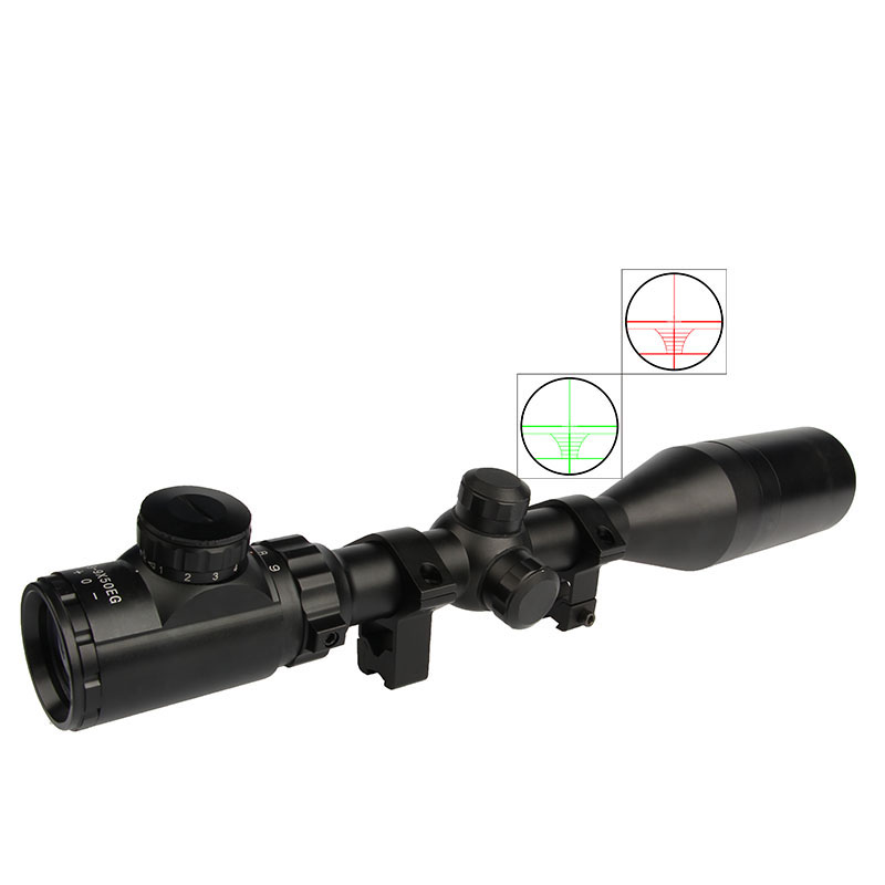 Hunting 3-9X50EG Rifle Scope Red Green Illuminated Riflescope with Extinction Tube Free 20MM/11MM Mount