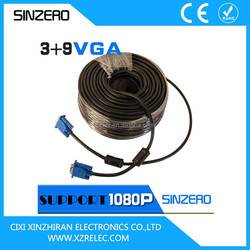 High quality waterproof electrical cable vga cable 30m