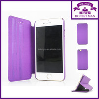 Hot selling strong magnetic flip case for iphone 6 leather case of china supplier