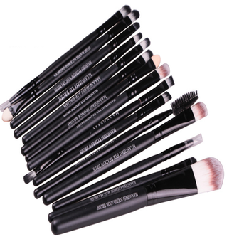 shenzhen beauty products private label synthetic brushes eyeshadow 15pcs eye brush set