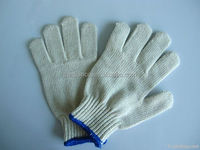 7gauge bleach white color led traffic glove/thin working glove/driver's glove