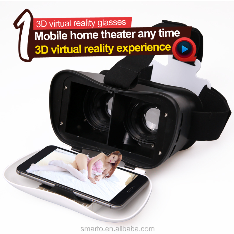 VR Headset virtual reality Box 2.0 3D vr glasses With Bluetooth Remote Control For 3D Games Movies