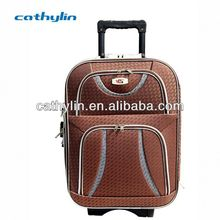 Oxford Fabric Material Plastic Stock Luggage Suitcase