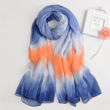 Wholesale Womens Fashion Head Scarves graduated color crumple printed african instant shawls wholesale hijabs from india