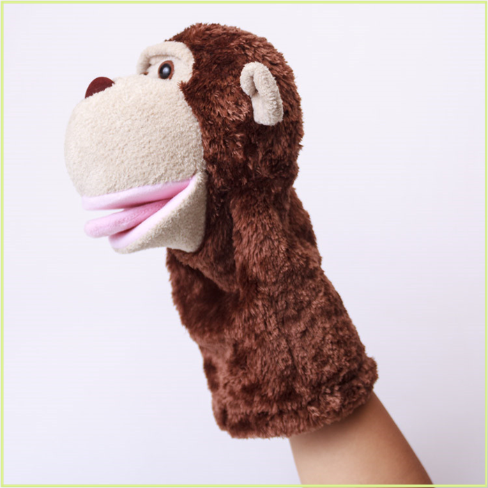 Plush soft named brand Velour toys brown monkey fashion puppets