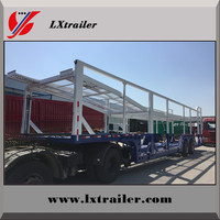 Enclosed Box Van Vehicle Transport Trailer With Double Decks