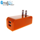Mobile phone charger -15w 5V 3.1A dual port USB power adapter charger