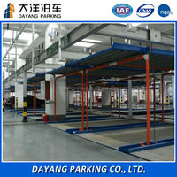2 floors mechanical puzzle parking system car lifting machine
