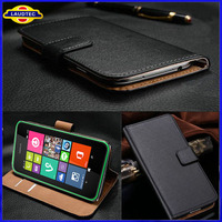 Hot Sale Genuine Wallet Case for Nokia Lumia 530 Real Leather Case Cover Laudtec
