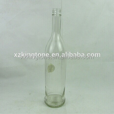 Wholesale clear long neck 750ml wine glass bottle with screw caps