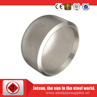 carbon steel butt weld seamless pipe fittings caps for line pipe
